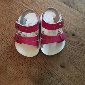 Salt Water Sandals by Hoy Other - Saltwater Sandals. Size 1. Patent Pink