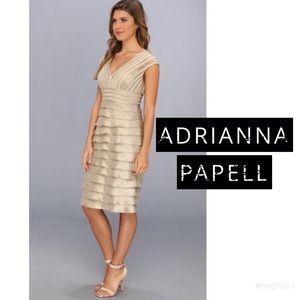 Adrianna Papell Dresses & Skirts - •Aᴅʀɪᴀɴɴᴀ Pᴀᴘᴇʟʟ• ᴄʜᴀᴍᴘᴀɢɴᴇ ᴛɪᴇʀᴇᴅ ᴅʀᴇss