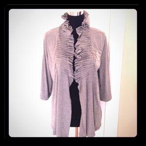 Willi Smith Sweaters - Gray open cardigan