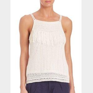 ❗️SALE❗NWT Joie Olesia Crochet Fringe Tank