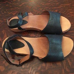 sanita Shoes - NWOT - Sanita wooden ankle wrap sandal Sz 38