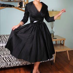 pinup girl clothing  Dresses & Skirts - Birdie dress,  royal blue, full swing size SM