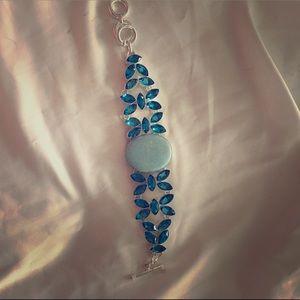 Gemstone silver bracelet. Sale 40 dollars