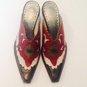 BCBGirls Shoes - BCBGirls Leather Western Mule
