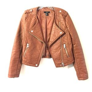 H & M Brown Leather Jacket