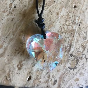 "Emily Ray Jewelry - 24"" Crystal Heart Necklace"
