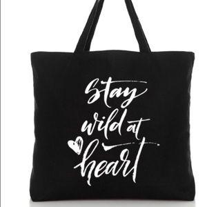 Handbags - Black Canvas Tote