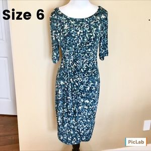 Connected Apparel Dresses & Skirts - Connected Apparel Faux Wrap 3/4 Sleeve Dress Sz 6