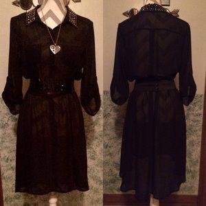 Lily Rose Dresses & Skirts - ✨Black completely sheer dress beaded collar