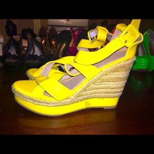 Claire's Shoes - Yellow Wedges