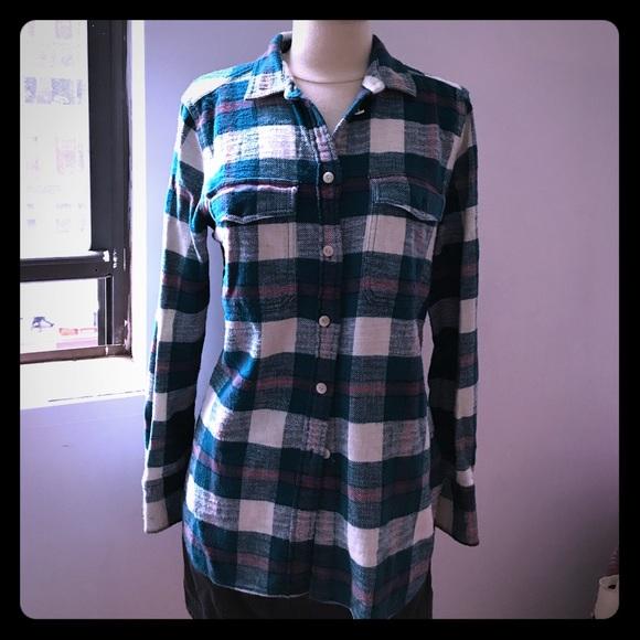 7273065bb27c2 J. Crew Tops - Boyfriend flannel shirt in bluegrass plaid