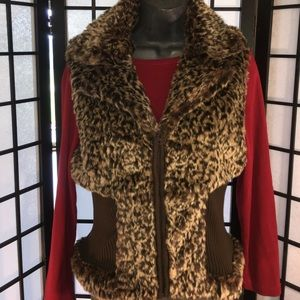 Lisa International  Jackets & Blazers - Faux Faur/ Sweater Vest