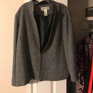 Practically new black and white blazer. Worn @ 2x
