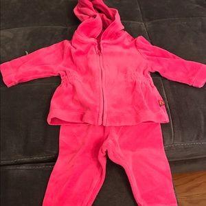 BabyGap Pink Velour Sweatsuit