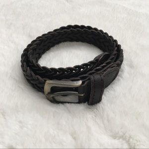 Children's Place Other - Childrens Place Brown Leather Braided Belt