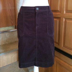 Izod Dresses & Skirts - Izod Brown Corduroy Pencil Skirt 12
