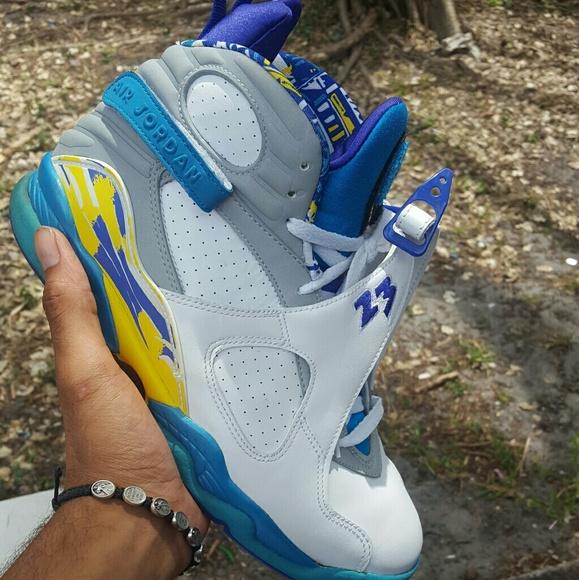 Jordan Shoes   White Aqua 8s   Poshmark