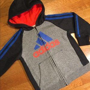 Adidas Other - Adidas Blue gray zipper sweatshirt hoodie
