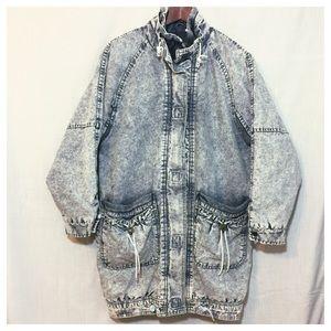 Sergio Valente Jackets & Blazers - Sergio Valente 80s Acid Wash Denim Jacket Coat