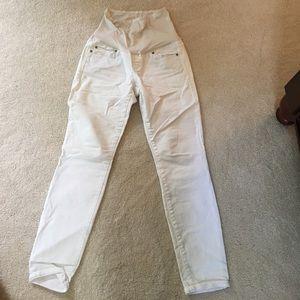 GAP Denim - Gap Maternity Above Belly White Jeans 28R