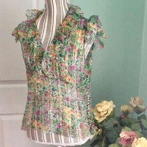 Oscar de la Renta Tops - OSCAR DE LA RENTA COUTURE Vintage Silk Blouse