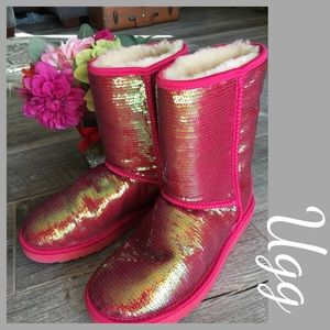 UGG Shoes - UGG Irrgdescant Sequin Shearling boots.