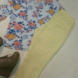 Liverpool Jeans Company Pants - Liverpool jeans company Capri Yellow Jeans 25/0