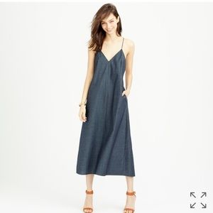 J. Crew Dresses & Skirts - J Crew Strappy Chambray Midi Dress