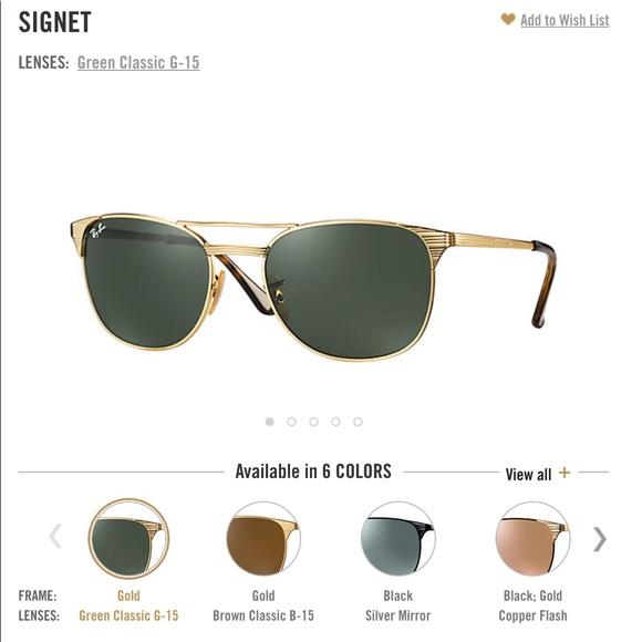 0f4ded15c0 Ray-Ban Signet - Gold Frame - Green Lens. M 58f8ed994e8d177139021d2d