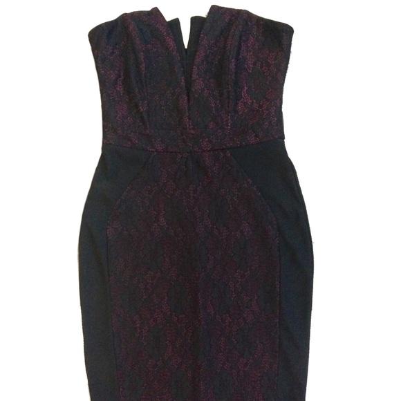Lipsy London Dresses Sparkle Black Pink Lace Bodycon Dress Poshmark