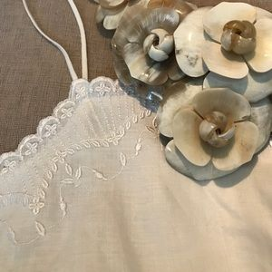 Romantic Embroidered Linen Camisole
