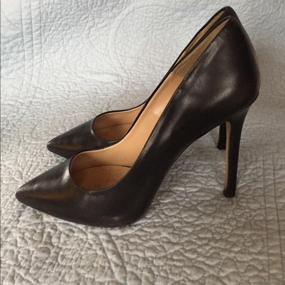 Zara Basic Leather Black Stiletto Heels