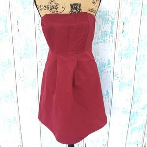 limited edition Dresses & Skirts - Red strapless limited edition dress with pockets