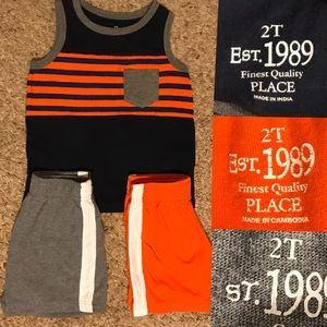 Children's Place Tank top with 2 matching shorts