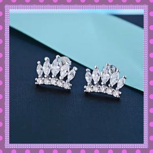 Boutique Jewelry - 💐Marquise Zirconia Crown Stud Earrings💐