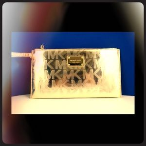 Michael Kors Mirror Metallic clutch
