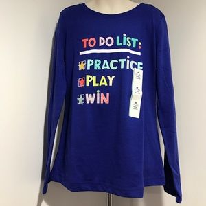 Cat & Jack Other - NWT M (7/8) LS Blue Tee