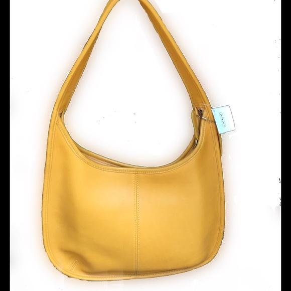 cda6dd9ce276 Coach yellow leather Hobo bag nwt