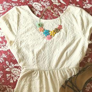 Xhilaration Dresses & Skirts - Cream Colour Skater Dress