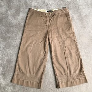 Orla Kiely Pants - Orla Kiely tan cotton cropped pants 2