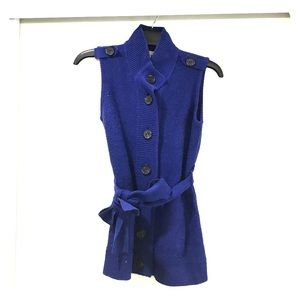 Sweaters - Cobalt Blue Sweater Vest
