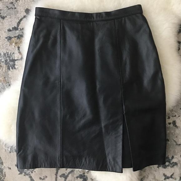 Tadashi Shoji Dresses & Skirts - Black genuine leather Tadashi skirt
