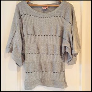 Plenty by Tracy Reese Tops - Plenty by Tracy Reese Grey Knit Sweater!
