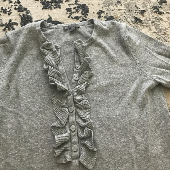 GAP Sweaters - Gray ruffled GAP sweater