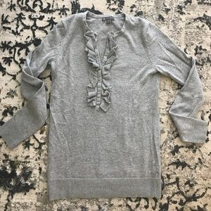 Gray ruffled GAP sweater
