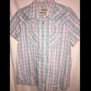 Shyanne Tops - ❤NWT Awesome XL Shyanne Plaid Western Shirt