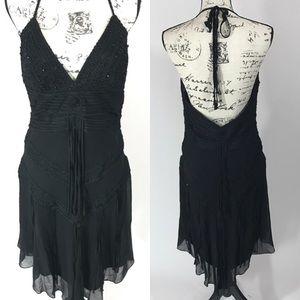 Sue Wong Dresses & Skirts - Sue Wong Beaded Halter Tassel 100% Silk Prom Dress