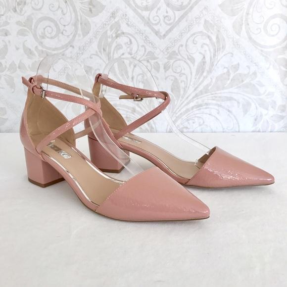 9b8100af0fa Kurt Geiger Shoes - NEW Miss KG blush patent block heel d Orsay pumps