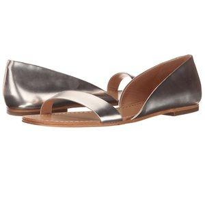 Sigerson Morrison Shoes - NWT Sigerson Morrison Kameda flat sandals - Silver