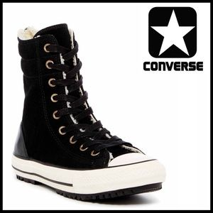 Converse Shoes - CONVERSE SUEDE Faux Shearling Lined Hi Tops